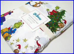 Pottery Barn Kids Multi Color The Grinch And Max Percale Cotton Twin Duvet Cover