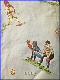 Pottery Barn Kids Multi Colors Junior Varsity Sports Baseball Twin Quilt Sham sh