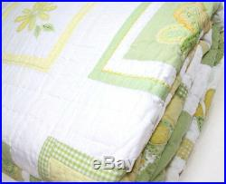 Pottery Barn Kids Multi Colors Yellow Green Spring Butterfly Flower Twin Quilt