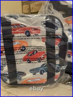 Pottery Barn Kids Muscle Car Large Backpack Lunch Box Water Bottle School New