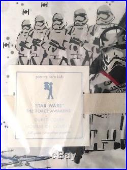 Pottery Barn Kids NWT, Star Wars The Force Awakens Duvet full/queen & (2) Shams