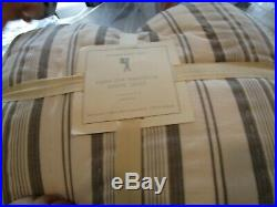 Pottery Barn Kids Nautical Yarn dyed quilt full queen gray grey New with tags