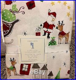 Pottery Barn Kids North Pole Santa Holiday FULL quilt shams sheets Christmas