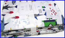 Pottery Barn Kids Ocean Fish Submarine Explorer Organic Cotton Queen Sheet Set