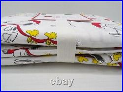 Pottery Barn Kids Organic Holiday Peanuts Snoopy Duvet Cover Queen White #9740A