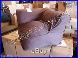 Pottery Barn Kids PB Teen Sofa beanbag Sectional corner CHAIR coffee brown