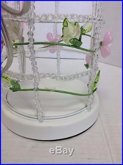 Pottery Barn Kids PBK Birdcage Complete Lamp bedside table Floral Girl White