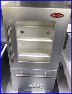 Pottery Barn Kids PBK Pro Chef Fridge Refrigerator Pretend Play Kitchen Vintage