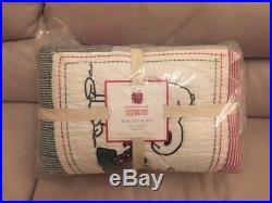 Pottery Barn Kids Peanuts Snoopy Full Queen Holiday Quilt Christmas F/Q