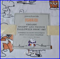 Pottery Barn Kids Peanuts Snoopy Halloween Queen Sheet SetPumpkinFall