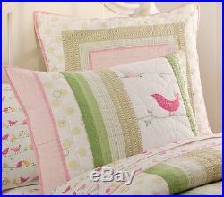 Pottery Barn Kids Penelope Full Bedding Set Quilt w Custom Curtains