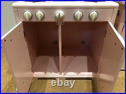 Pottery Barn Kids Pink Retro Kitchen Sink, Icebox & Oven Set, Used