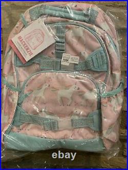Pottery Barn Kids Pink Unicorn Large Backpack Lunch Bag Mackenzie Set School New