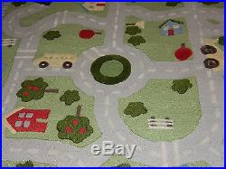 Pottery Barn Kids Play In The Park 5x8 Rug Blue