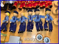 Pottery Barn Kids Police Station 53rd Precinct/Fire Station Lot Wood Toy