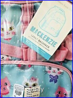 Pottery Barn Kids Princess Kitty Large Backpack Classic Lunchbox Water Bottle