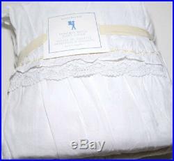 Pottery Barn Kids Princess Ruffle Golden Thread Cotton Twin Duvet Cover New