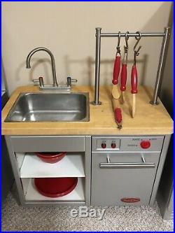 Pottery Barn Kids Pro Chef Stainless Steel Kitchen Set Refrigerator Dishwasher