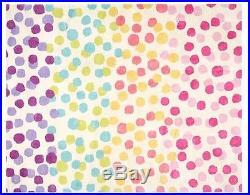 Pottery Barn Kids Rainbow Dot Wool Rug 5x8 Multi-Colored Cute