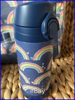 Pottery Barn Kids Rainbow LARGE Backpack Water Bottle Lunch Box Thermos Case NWT