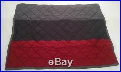 Pottery Barn Kids Red/Gray Block Stripe Full/Queen Quilt+2 Standard Shams