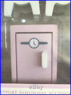 Pottery Barn Kids Retro Pink Dollhouse Wooden Kitchen Stove Oven Sink Furniture