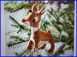 Pottery Barn Kids Rudolph Santa and Bumble Christmas Tree Ornament NWT PBK
