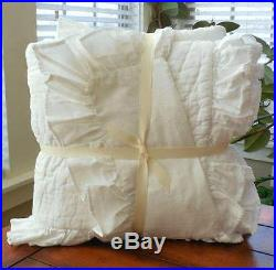 Pottery Barn Kids Ruffle Collection Nursery Baby Bedding 5 Pieces Set NWT White