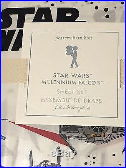 Pottery Barn Kids STAR WARS MILLENNIUM FALCON Full/Queen Quilt+2 Shams+Sheet Set