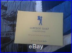 Pottery Barn Kids SURFSIDE Queen QUILT Bed SET sheets shams MARLIN OCEAN 8p NEW