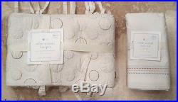 Pottery Barn Kids Safari Animals Crib Skirt & Bumper Nursery Bedding