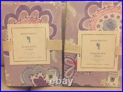 Pottery Barn Kids Samantha duvet Cover set 2 standard shams full queen Lavender