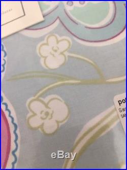 Pottery Barn Kids Samantha Duvet Shams Full Queen Blue Garden Floral