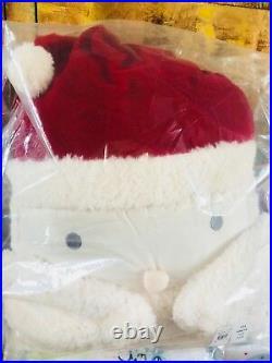 Pottery Barn Kids Santa FULL QUEEN Duvet Sheet Set Shams Pillow Christmas Globe