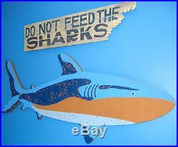 Pottery Barn Kids Shark Corkboard Wall Hanging Picture Shark Theme Fast Ship