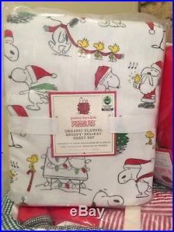 Pottery Barn Kids Snoopy Full Queen Quilt Organic Full Sheet Set Snoopy Pillow