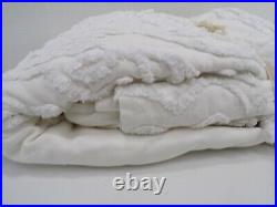 Pottery Barn Kids Square Stitch Quilt Twin White #317