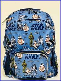 Pottery Barn Kids Star Wars Backpack Large Girls Boys Bookbag BB8 BB-8 Droid New