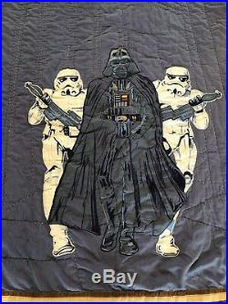 Pottery Barn Kids Star Wars Darth Vader Storm Troopers Twin Quilt