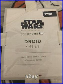 Pottery Barn Kids Star Wars Droid Quilt Twin New In Package Sold Out @ PB