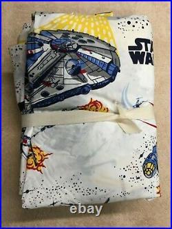 Pottery Barn Kids Star Wars Millennium Faclon Queen Sheet Set And 2 Pillow cases