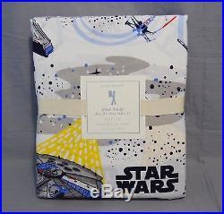 Pottery Barn Kids Star Wars Millennium Falcon Full/Queen Quilt+Shams+Queen Sheet