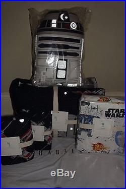 Pottery Barn Kids Star Wars Millennium Falcon Full quilt 2 sham sheet R2D2 pillo