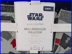 Pottery Barn Kids Star Wars Millennium Falcon Quilt Twin #6411