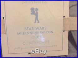 Pottery Barn Kids Star Wars Millennium Falcon quilt 2 Standard shams full queen