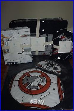Pottery Barn Kids Star Wars Millennium Falcon twin quilt sham Droid sheet & BB8