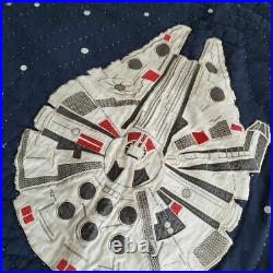 Pottery Barn Kids Star Wars Quilt FULL Size Millenium Falcon X-Wing Death Star