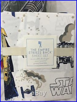 Pottery Barn Kids Star Wars X-Wing & Tie Fighter F/Q Quilt Shams Queen sheet Set