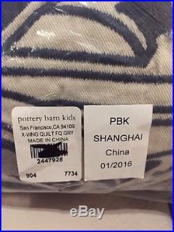 Pottery Barn Kids Star Wars x-wing TIE fighter Quilt Standard Shams Full Queen