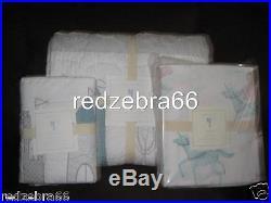 Pottery Barn Kids Starla Ice Castle Twin Quilt Standard Sham Sheet Set 5pc Magic